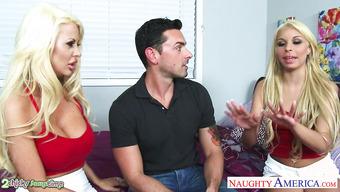 Секс с двумя соблазнительными блондинками